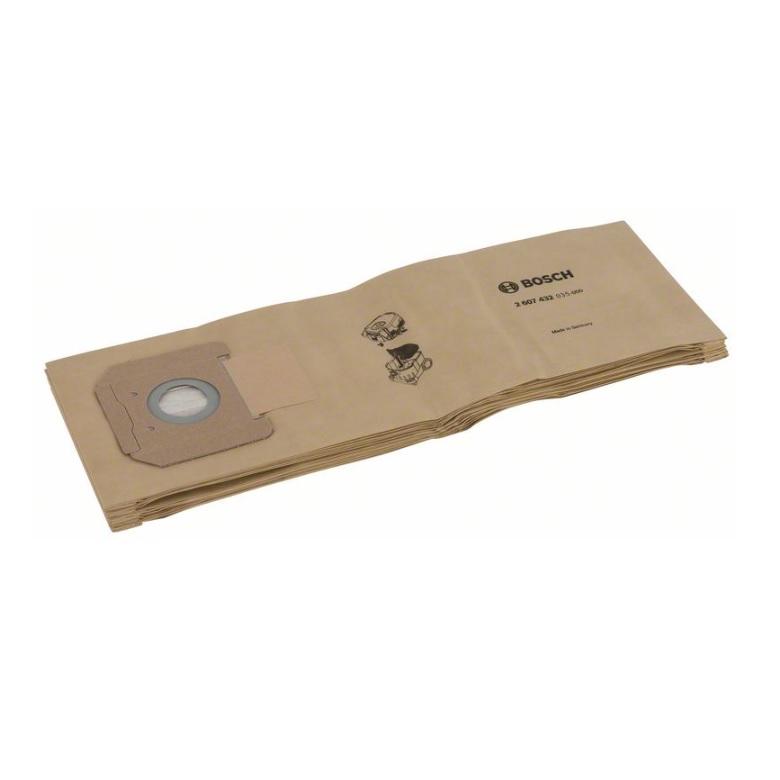 Bolsa filtrante de papel para aspirador Bosch GAS 35 (5 unidades) - Referencia 2607432035