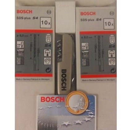 Set 20 brocas widia Bosch de 6 y 8 mm - Con multiusos de regalo
