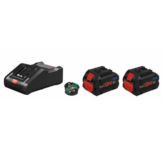 Juego 2 baterías Bosch ProCORE18V 8Ah + cargador GAL 18V-160 C + módulo Bluetooth - Referencia 1600A016GP