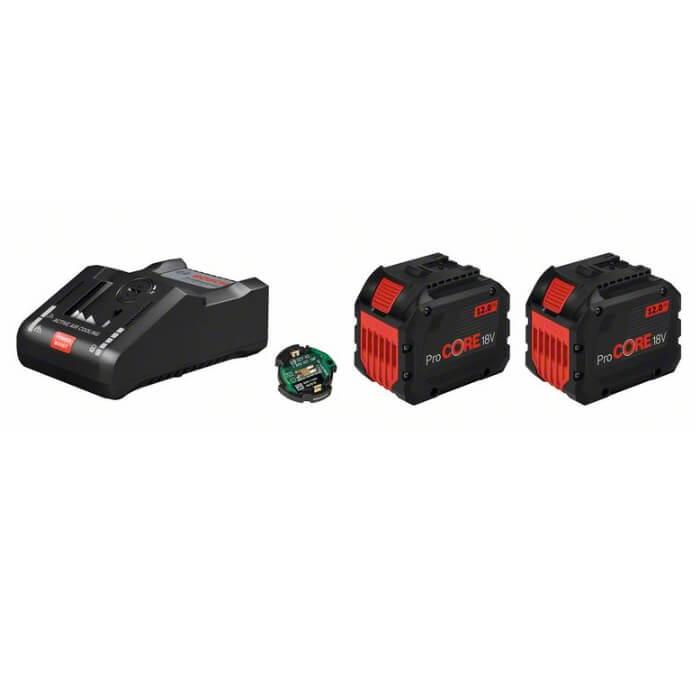 Juego 2 baterías Bosch ProCORE18V 12Ah + cargador GAL 18V-160 C + módulo Bluetooth - Referencia 1600A016GY