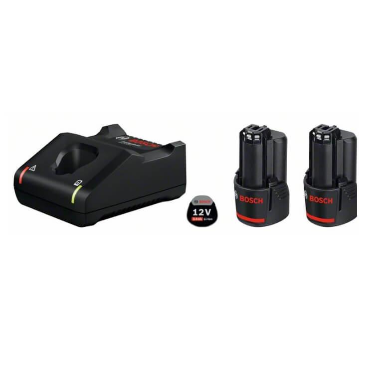 Juego 2 baterías Bosch GBA 12V 3Ah + cargador GAL 12V-40 - Referencia 1600A019RD