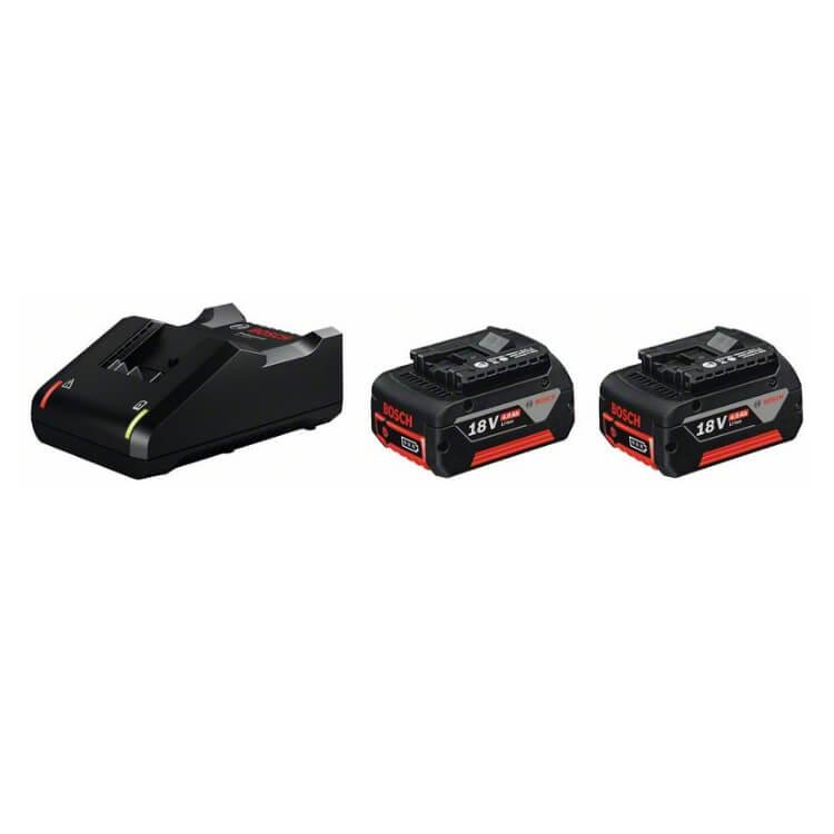 Juego 2 baterías Bosch GBA 18V 4Ah + cargador GAL 18V-40 Professional - Referencia 1600A019S0