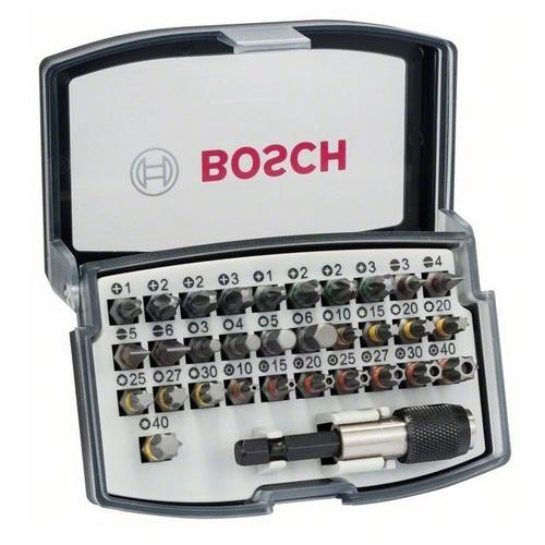 Puntas atornillador + portapuntas magnético Bosch (Set 32 piezas)