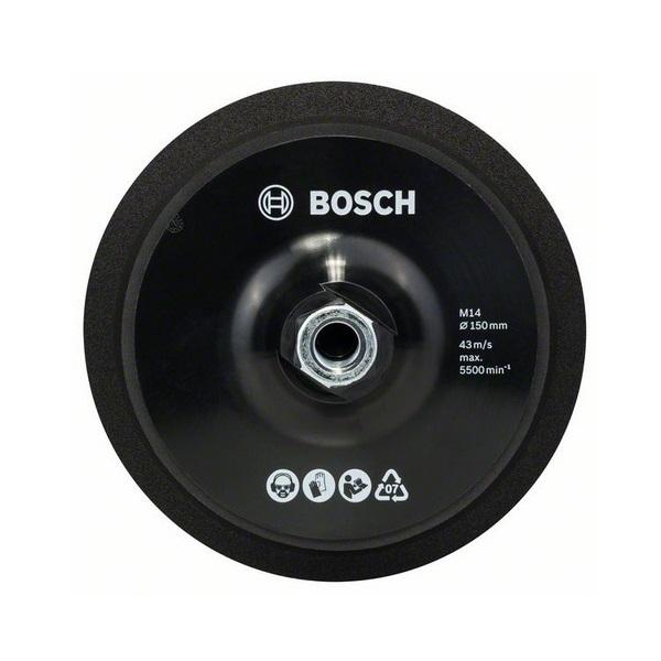 Plato de goma con velcro Bosch M14 de Ø150 mm
