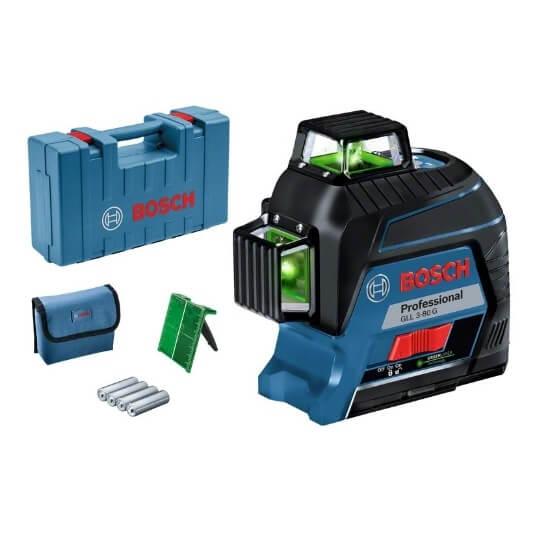 Bosch GLL 3-80 G Professional  - Nivel láser autonivelante de líneas verdes - Referencia 0601063Y00