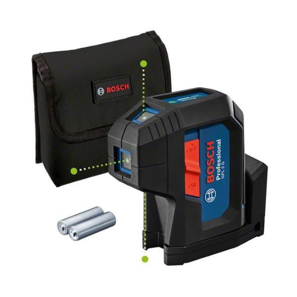 Bosch GPL 3 G Professional  - Nivel láser de 3 puntos verdes - Referencia 0601066N00