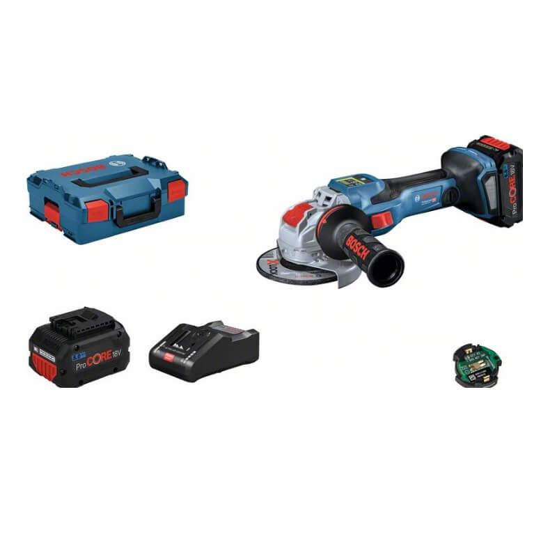 Bosch GWX 18V-15 SC + L-BOXX con 2 baterías 8Ah - Miniamoladora a batería BITURBO con X-LOCK 125mm - Referencia 06019H6501