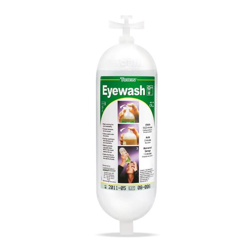 Botella repuesto de 1 L. para estaciones lavaojos. 2388-L126  (pack 2 unidades)