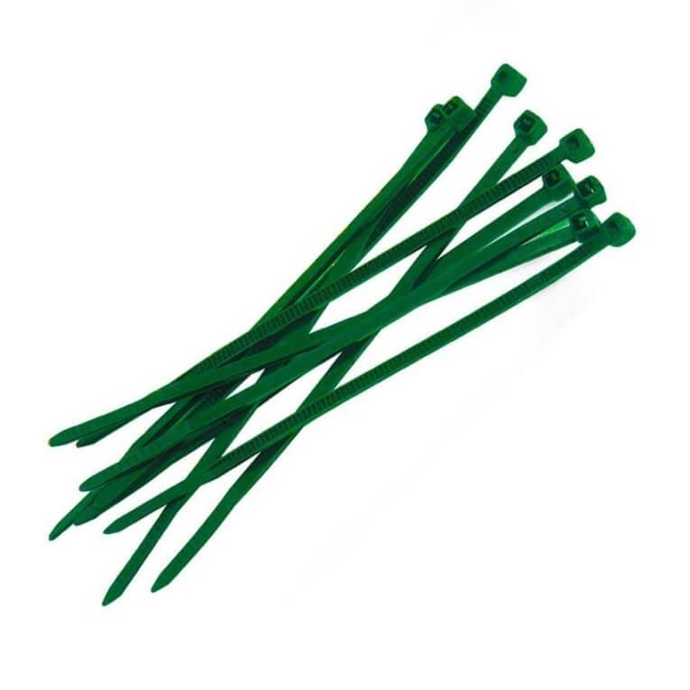 Brida nylon verde de 150x3'5mm - 100 unidades