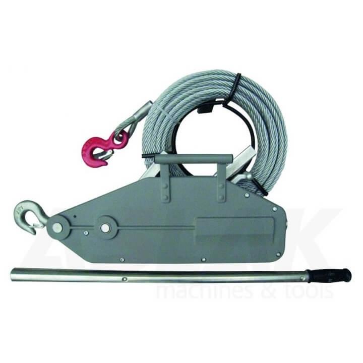 Cabestrante de cable pasante MetalWorks KT800 de 0,8T