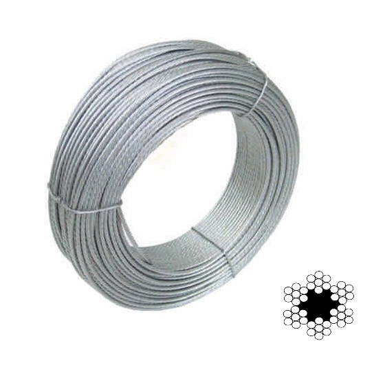 Cable acero galvanizado - 2mm x 10mts