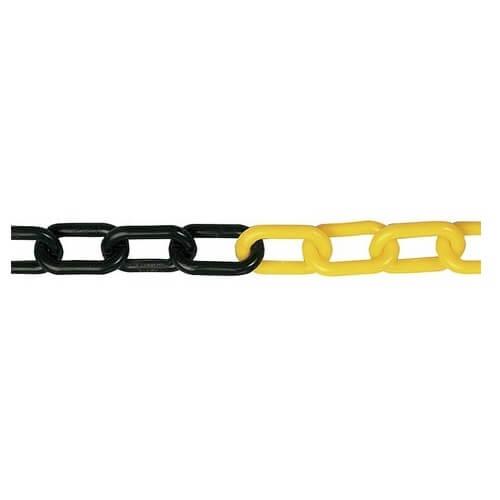 Cadena de plástico Amarillo/Negro de 6mm (Metro Lineal)