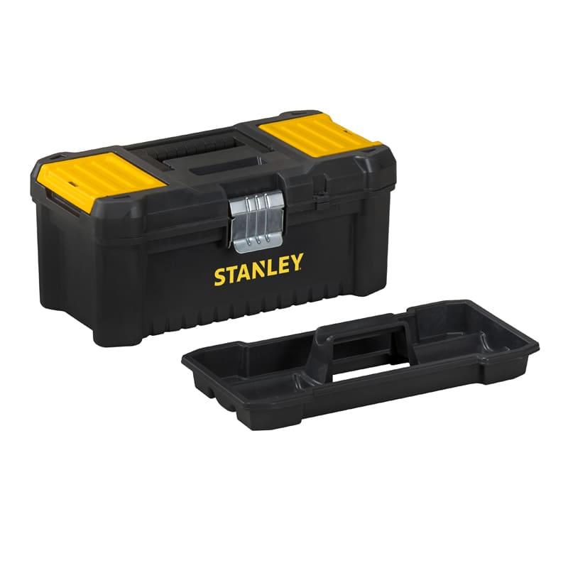 Caja de herramientas de plástico cierres metálicos Stanley Essential - 40cm - Referencia STST1-75518