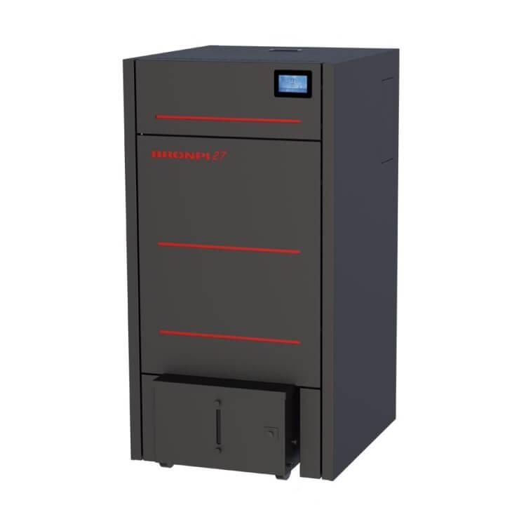 Bronpi HYDROCONFORT-27 - Caldera de pellet hydro de 27kW con sistema limpieza y compactador cenizas - Referencia HYDROCONFORT-27