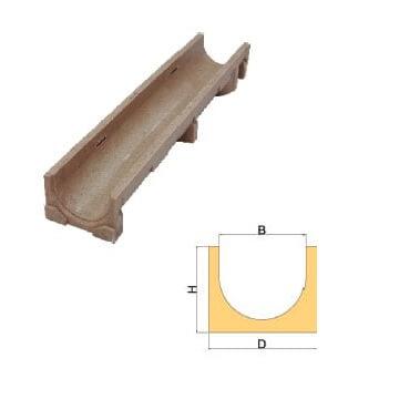 Canal en hormigón polímero SUISELF 150 de 190x140x1000mm