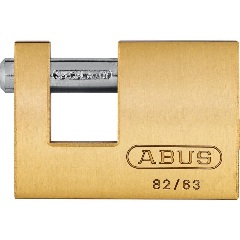 Candado Monoblock 82/63 Abus rectangular laton - 63 mm - Referencia 82/63