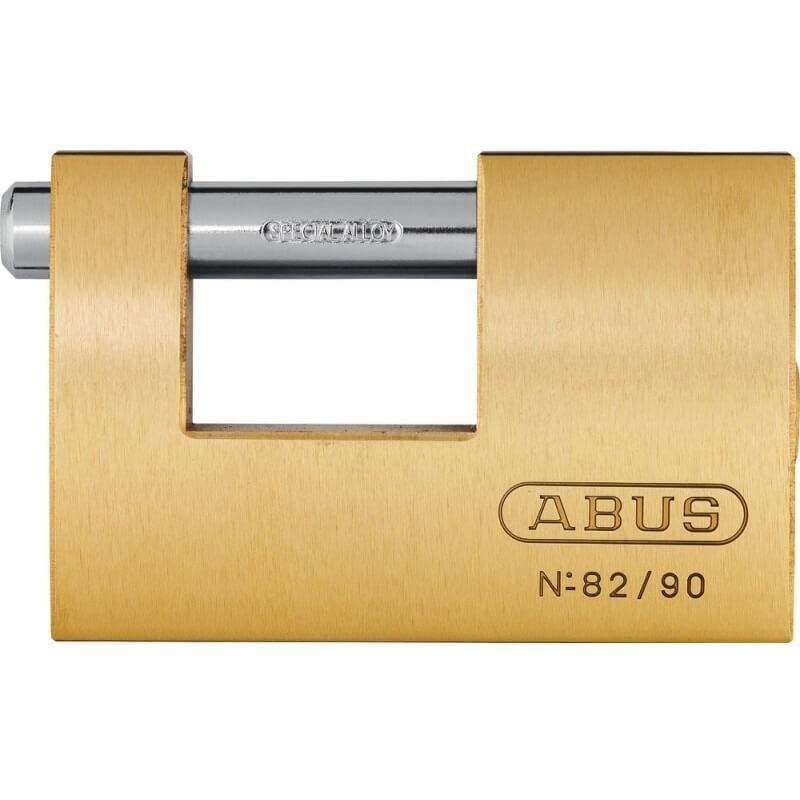 Candado Monoblock 82/90 Abus rectangular laton - 90 mm - Referencia 82/90