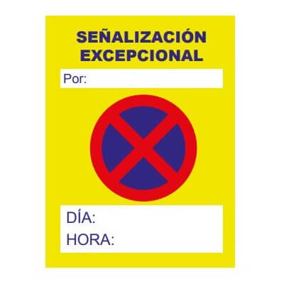 Cartel prohibido aparcar con horario Poliet de 50x70cm