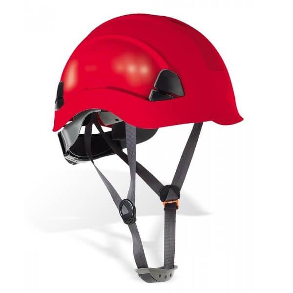 Casco de protección para trabajos en altura Mod.'EOLO' - Rojo