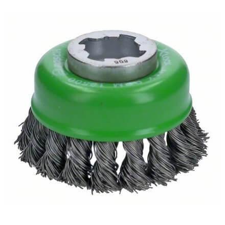 Cepillo de vaso INOX Bosch X-LOCK de alambre - 75x0,5x125mm