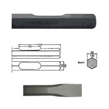 Cincel hexagonal inserción Bosch 11304=USH27 de 400mm - Referencia 005721