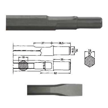 Cincel hexagonal inserción Bosch UBH 12/50 de 400mm