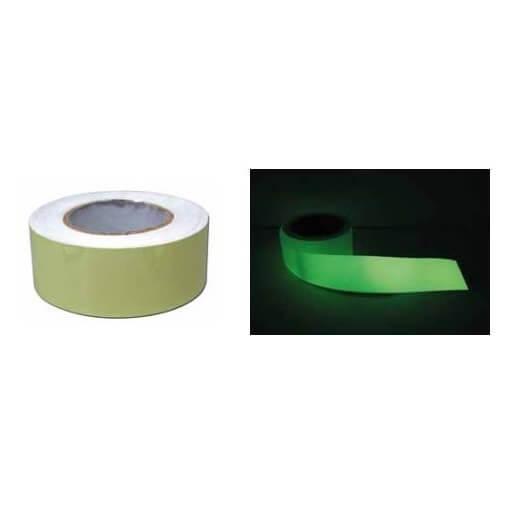 Cinta adhesiva fotoluminiscente de 25 metros x 5 cm
