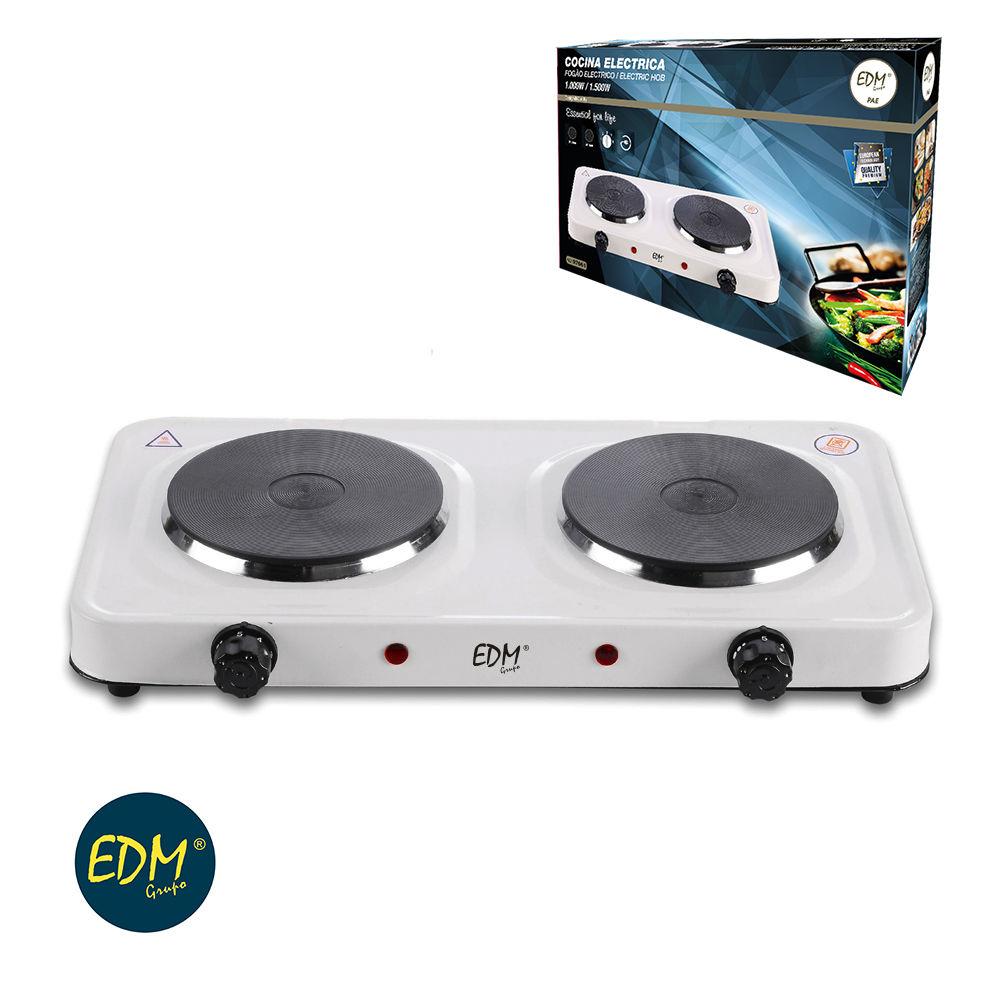 Cocina eléctrica portátil de 2 fuegos EDM 1000W-1500W