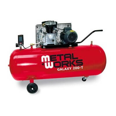 Compresor de aire MetalWorks Galaxy 200-M de 200 litros