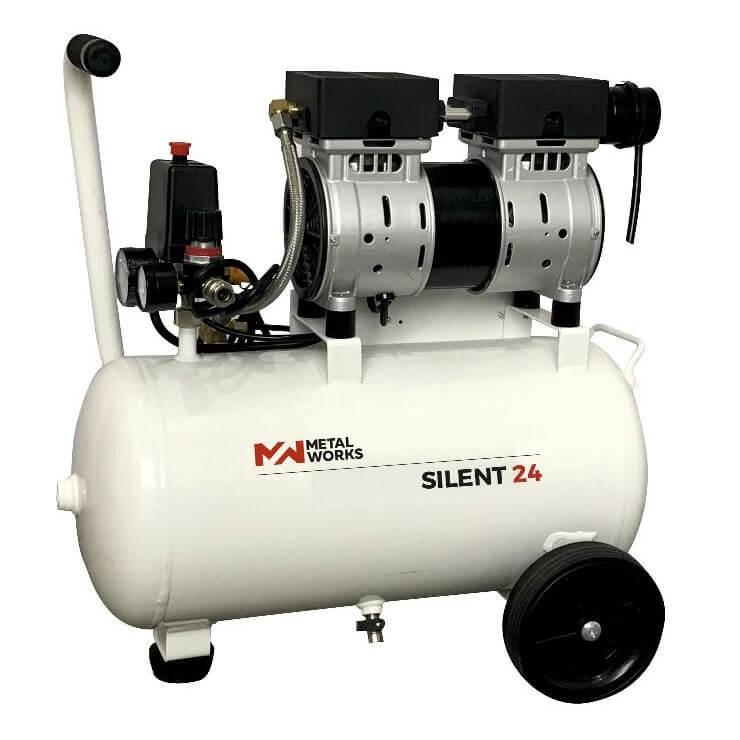 Compresor de aire MetalWorks Silent 24 de 24 litros