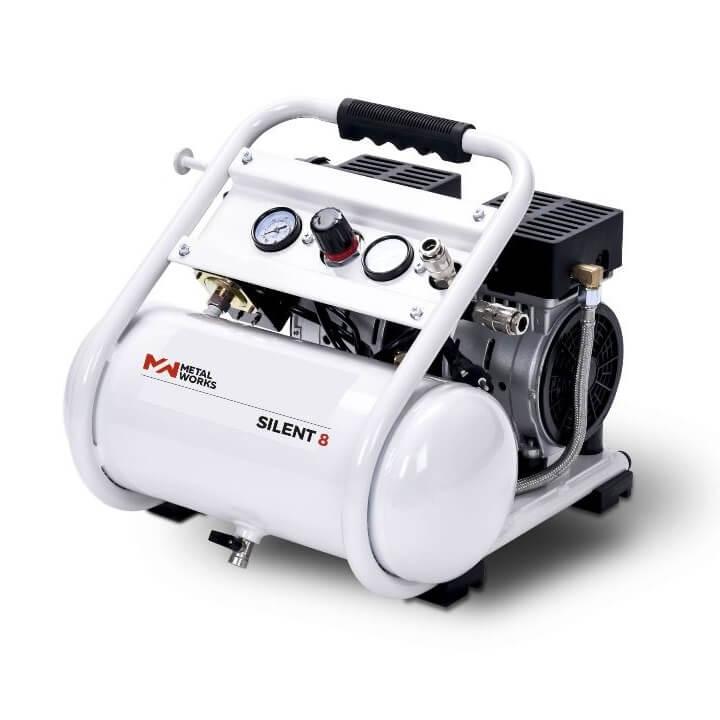 Compresor de aire MetalWorks Silent 8 de 8 litros