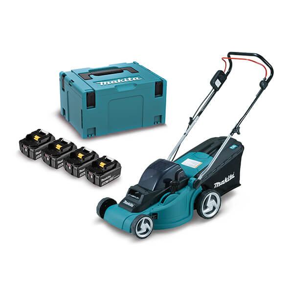 Cortacésped Makita DLM380PT4J 18Vx2 LXT 38cm + Kit 4 baterías 5.0Ah - Referencia DLM380PT4J