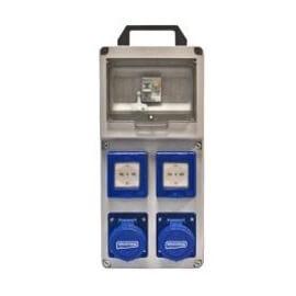 Cuadro portátil termoplastic monofásico - 4 tomas (2 Schuko + 2 Cetac)