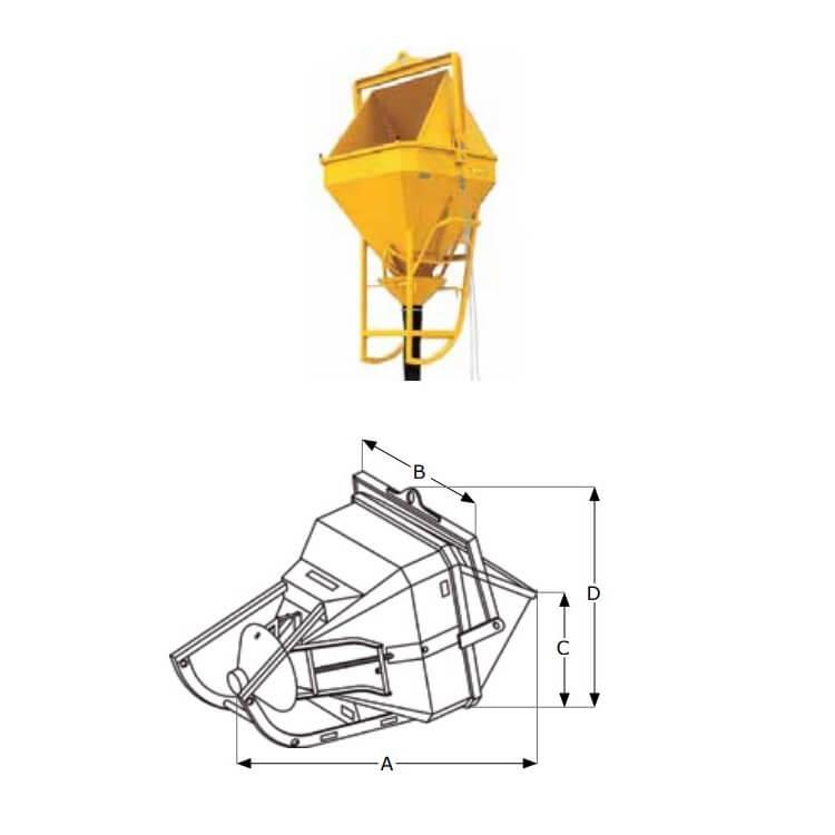 Cubo PLUS Dacame con tubo de goma BC+ de 500L