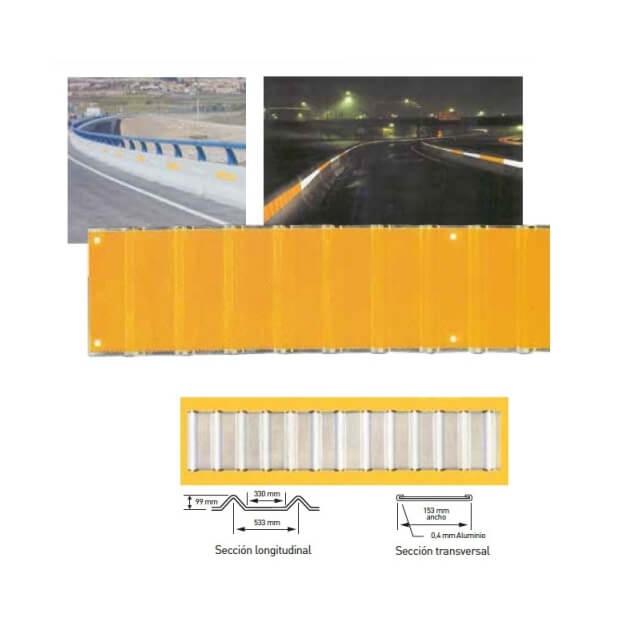 Delineador de barrera LDS amarillo fluor de 86x15,3cm