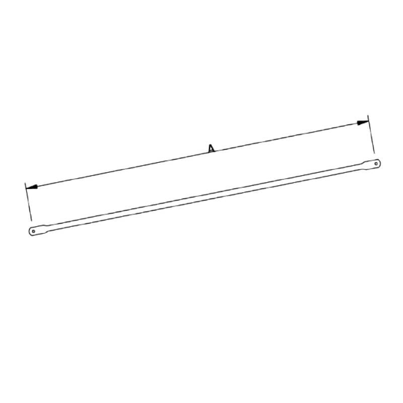 Diagonal FER-48 galvanizada de 1m