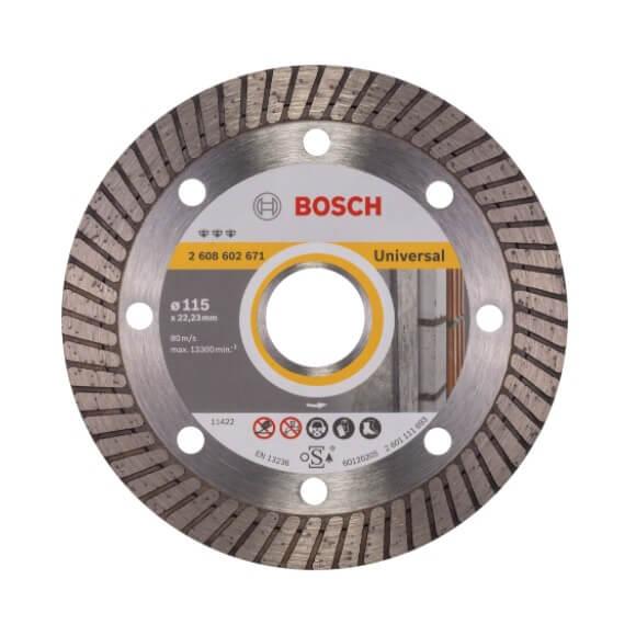 Disco de diamante Best for Universal Turbo Bosch para amoladoras de 125mm - Referencia 2608602672