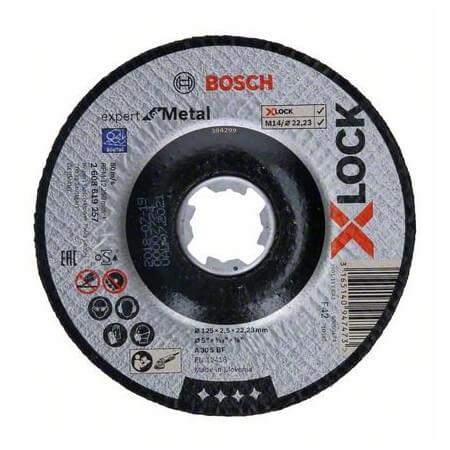 Disco de corte cóncavo expert para metal Bosch X-LOCK - 125mm