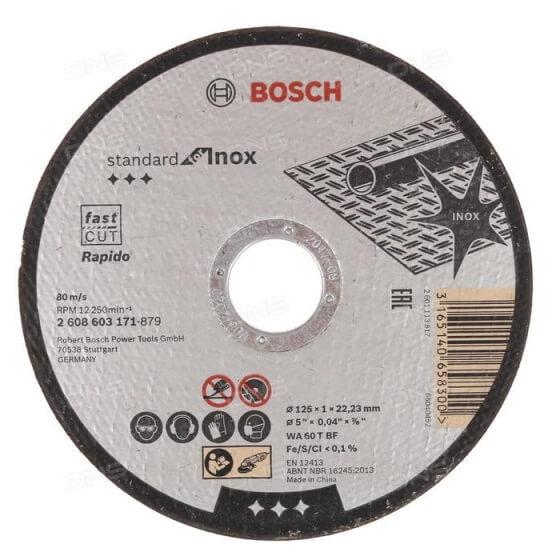 Disco de corte rápido para INOX Bosch Professional - 115mm - Referencia 2608603169