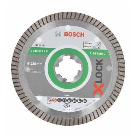 Disco de diamante cerámica Bosch X-LOCK - 125mm