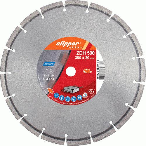 Disco diamante segmentado Norton Pro Beton ZDH500 soldado a láser - 350mm - Referencia 70184627061