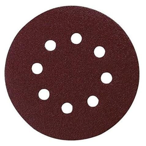 Hojas de lija perforado Makita con velcro de 125mm - Grano 80 (Caja 10 unidades)