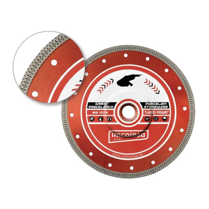 Disco de diamante porcelánico TURBO POWER de Ø115mm H10 - Referencia 21691