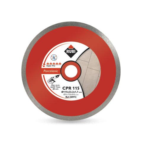 Disco Diamante Rubi Gres Porcelánico Contínuo CPR 115 SUPERPRO - Referencia 30972
