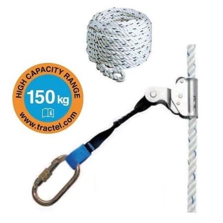 Dispositivo anticaídas sobre cuerda Tractel STOPFOR PL10 + Cuerda de 10 metros - Referencia 2036468+2011422