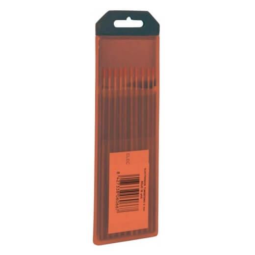 Electrodos tungsteno 2% Torio Rojo Solter de 1,6mm (10 unidades)