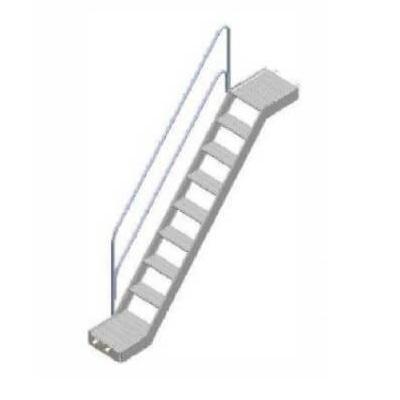 Escalera de visita aluminio FERMAR de 8 peldaños 3x2m