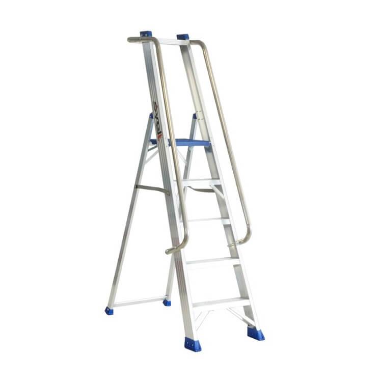 Escalera de almacén con barandilla de aluminio Svelt Regina Especial - 5 peldaños