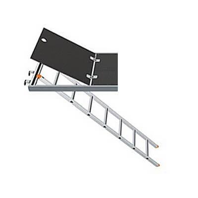 Escalera para plataforma de acceso aluminio con trampilla FERMAR en acero pintada