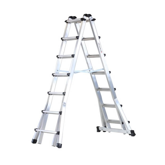 Escalera telescópica extralarga de aluminio Svelt Bravíssima - 1,99 metros